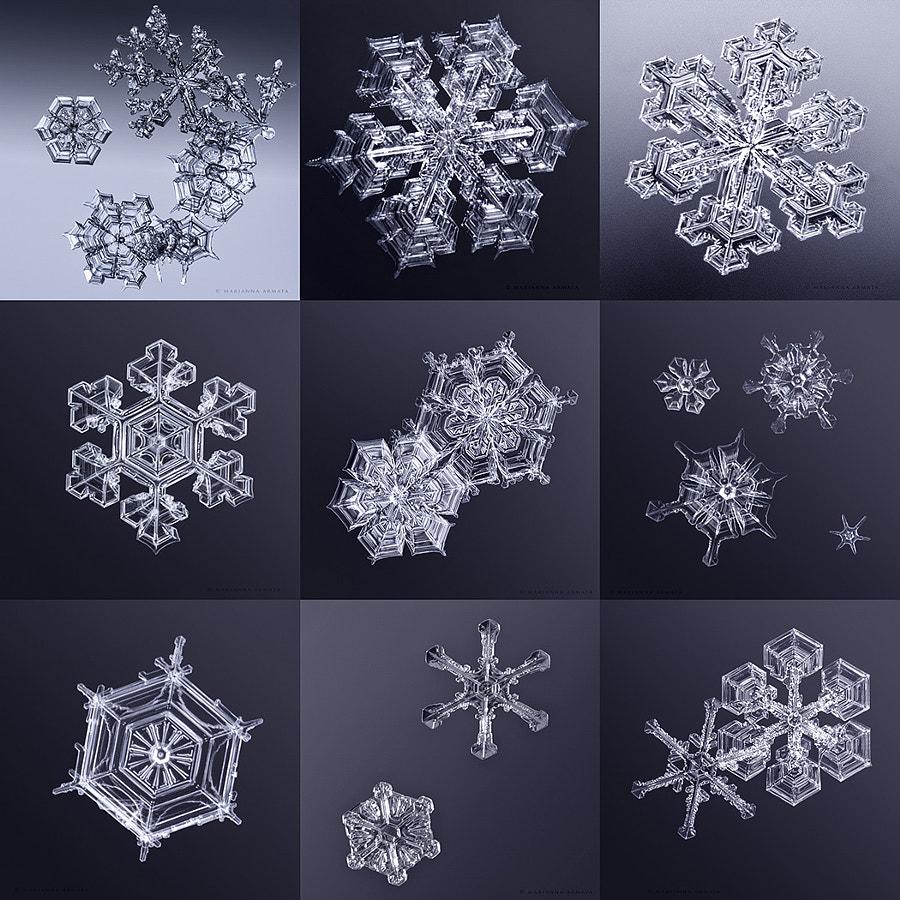 9 snow flakes