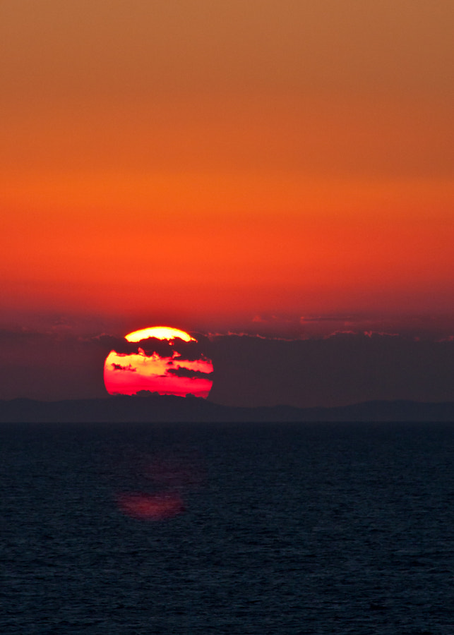 Some of the best sunsets I have seen have been on the Med - this was a cracker.