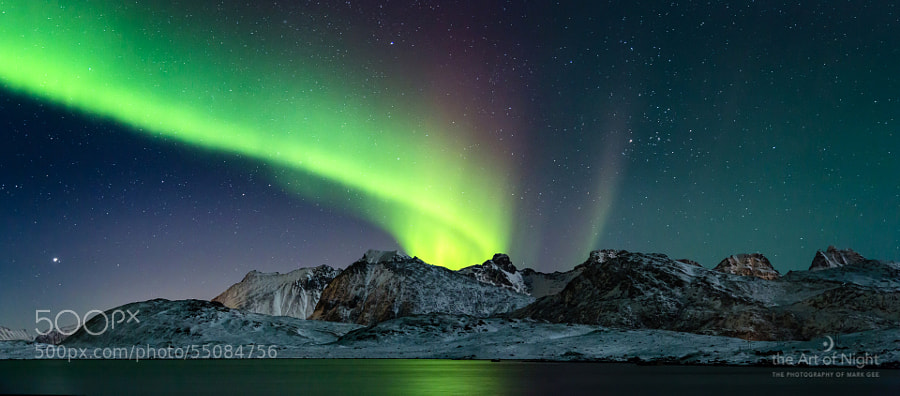 Photograph Aurora in the Mountain by Mark Gee on 500px