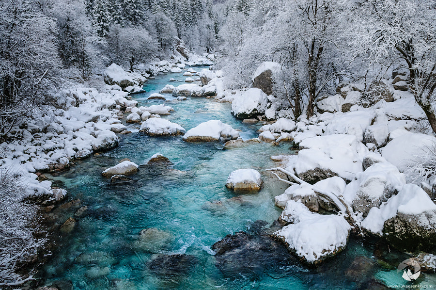 Photograph Soca river in snow by Luka Esenko on 500px