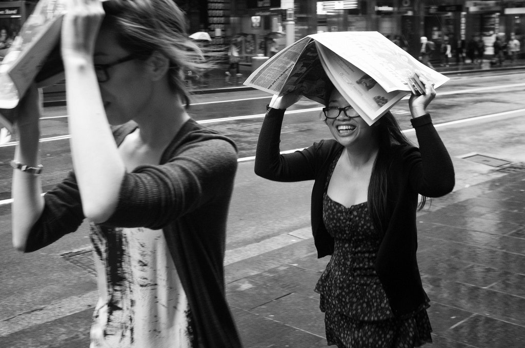 Photograph Girls escaping rain. by Marie Peters on 500px