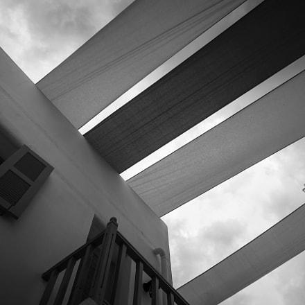 Black and White Overhead Draperies