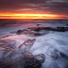 """It's been quite some time since I published a seascape image, and longer since I shot one.  The year 2013 was not """"Year of the Seascape"""" for me, as my interests were elsewhere, and motivation for photography was significantly lacking.  Today I dragged out an old, unpublished image from the archives.  This image was taken in 2012, on one of the rare mornings I've encountered, in which the light and conditions were superb.  Perhaps I should re-visit seascaping again in the new year."""