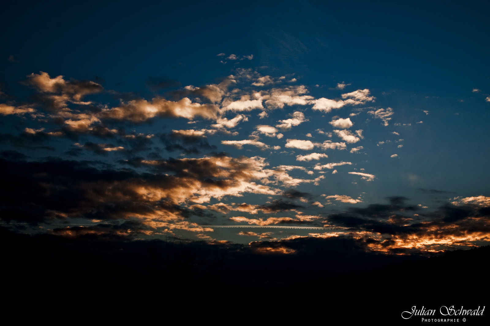 Photograph Sunset with blue Sky by Julian Schwald on 500px