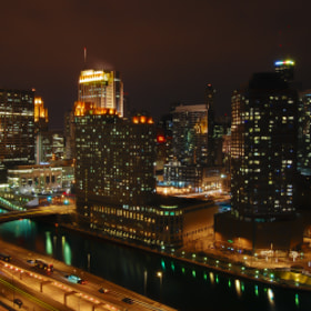 Chicago at night by Haroldo Braune (haroldobraune)) on 500px.com