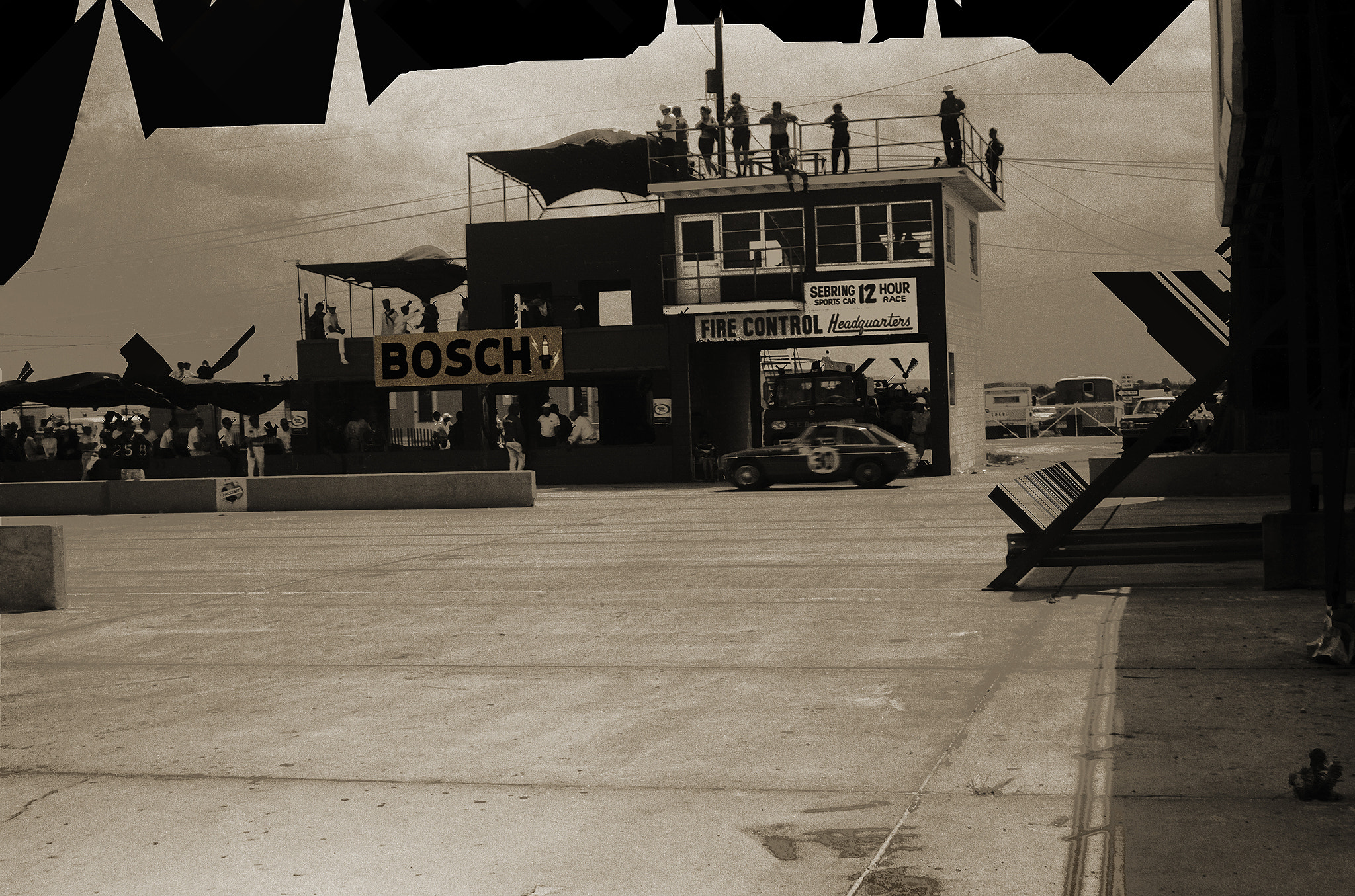 Photograph MG pitting, Sebring 1968 by Terry Letton on 500px
