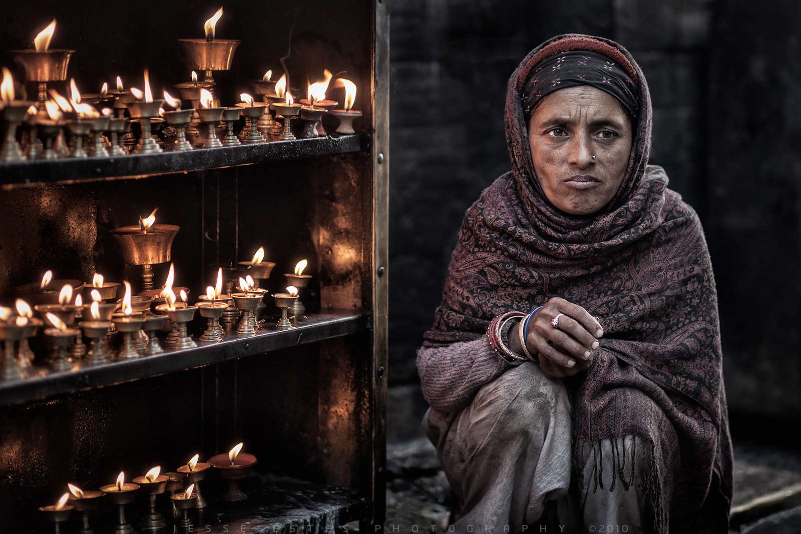 Photograph Butter Lamps - Kathmandu, Nepal by Jesse Estes on 500px