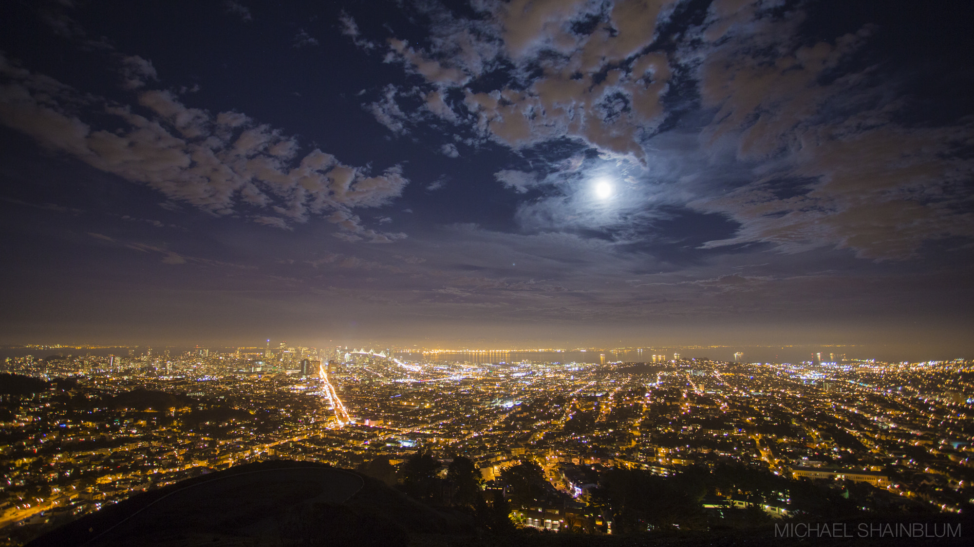 Photograph Moonrise Over San Francisco by Michael Shainblum on 500px