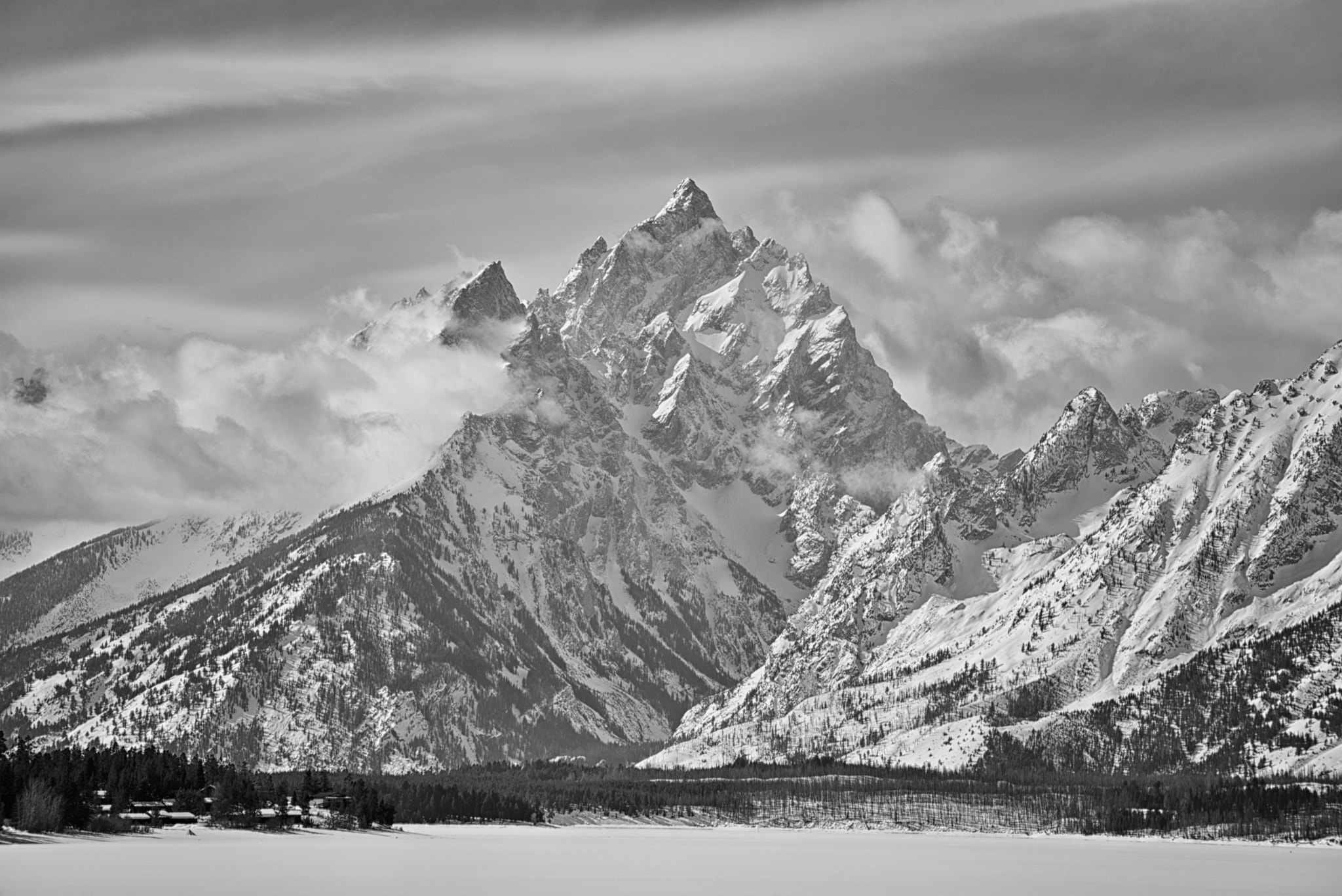 Photograph Tetons in Black and White by Stacy White on 500px