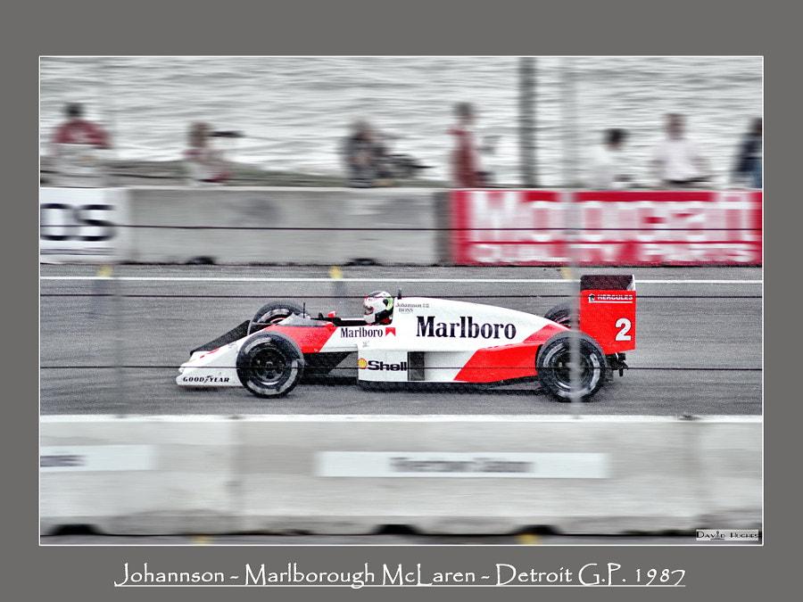 Stefan Johansson 1987 Detroit GP
