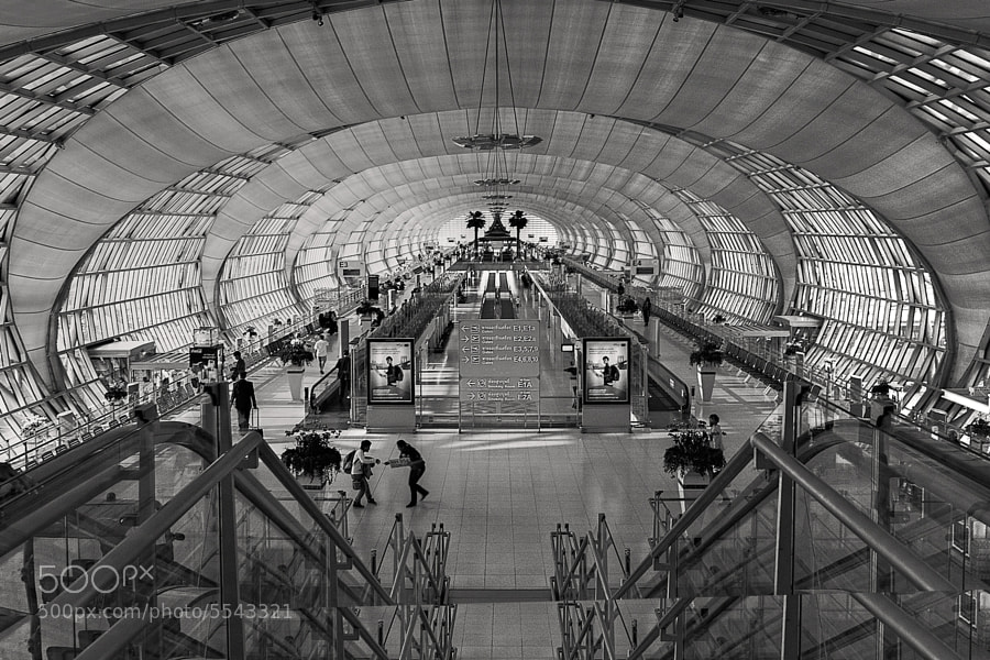Bangkok International Airport.