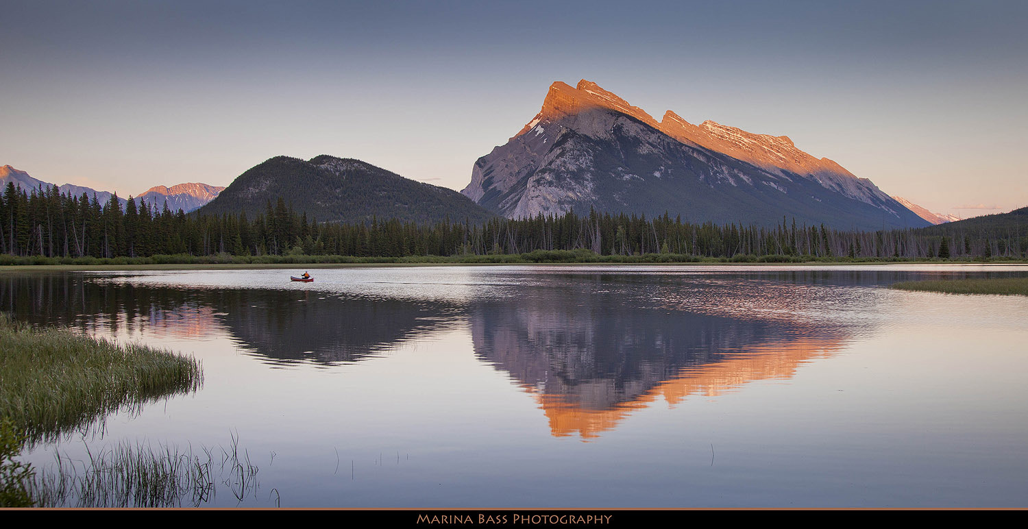 Photograph Sunset at Vermillion Lakes by Marina Bass on 500px