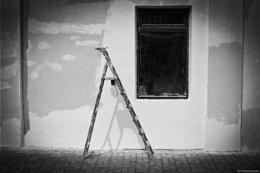 Photograph ladder and a window by Anton Antonov on 500px