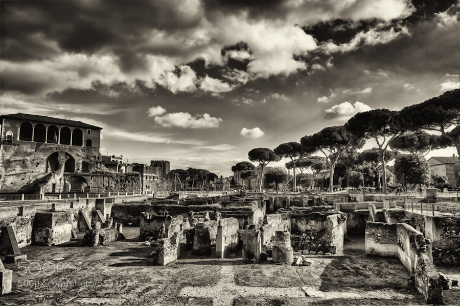 Photograph Roman Forum in B&W by David Edenfield on 500px