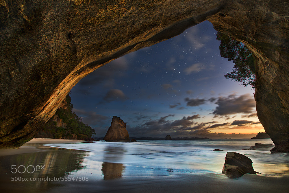 Photograph Cathedral Cove by Yan Zhang on 500px