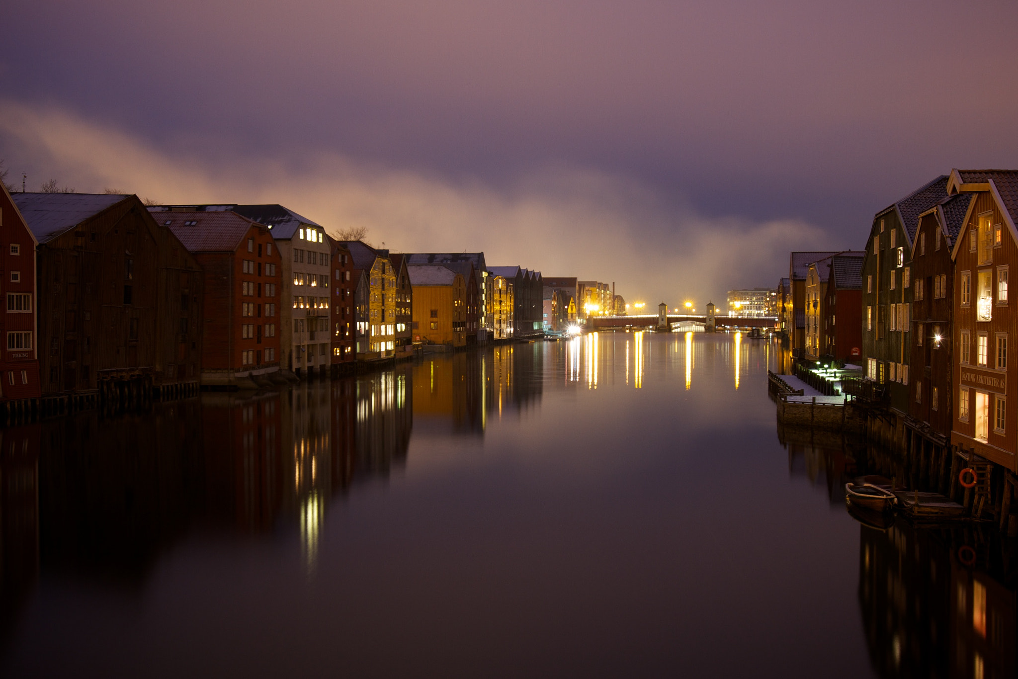 Photograph Night in Trondheim by Jøran Johnsen on 500px
