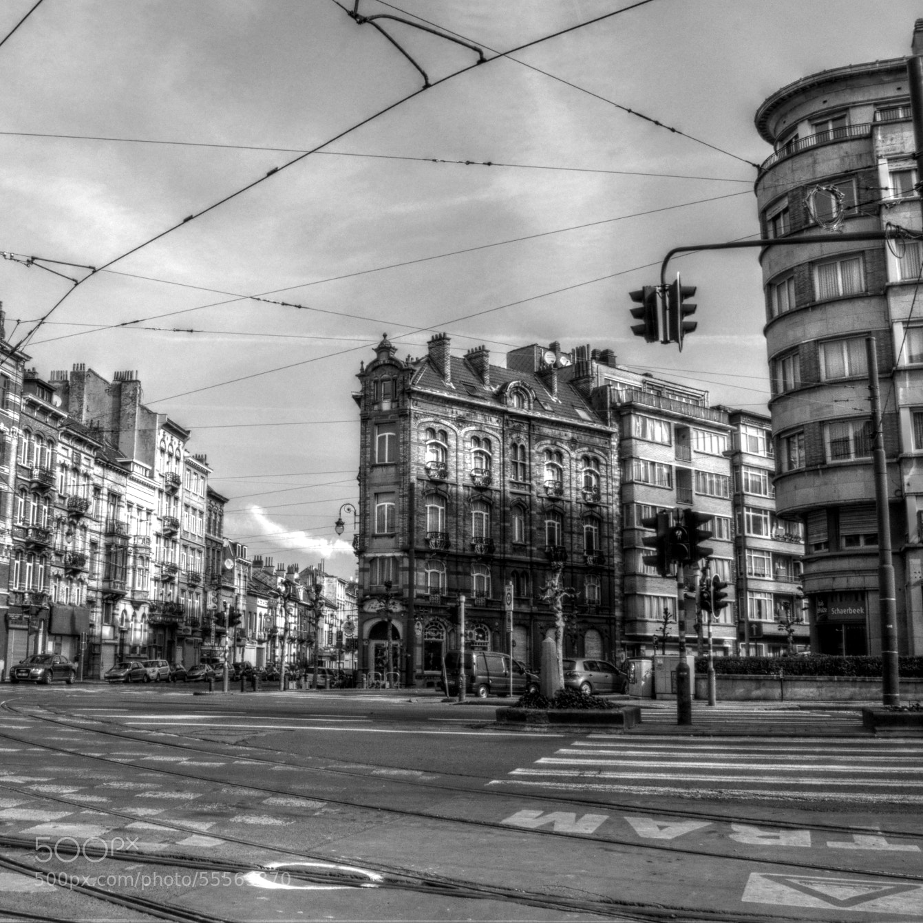 Photograph tramway infrastructure in black and white by Joakim Chappel on 500px