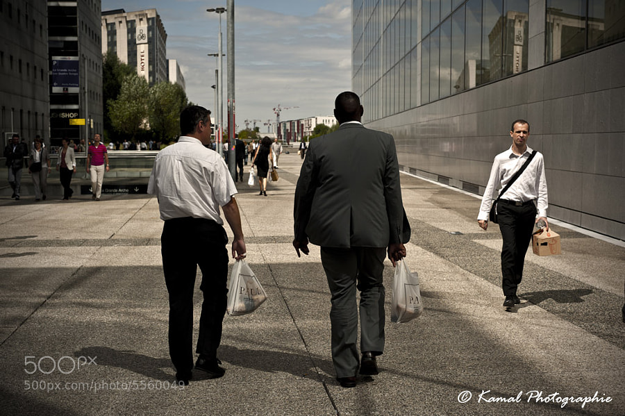 Photograph Lunch time in La Defense by Kamal Photography on 500px