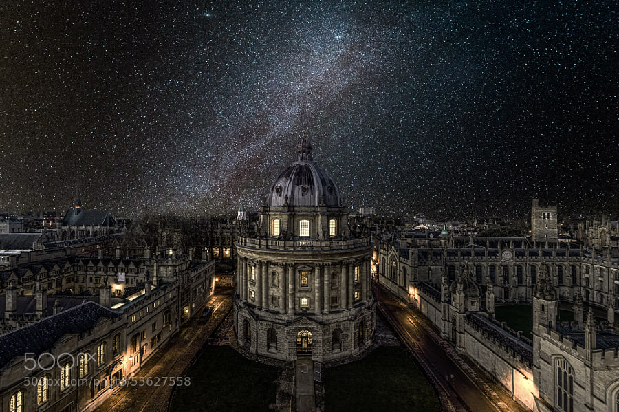 Photograph Oxford University under the winter Milky Way by Yunli Song on 500px