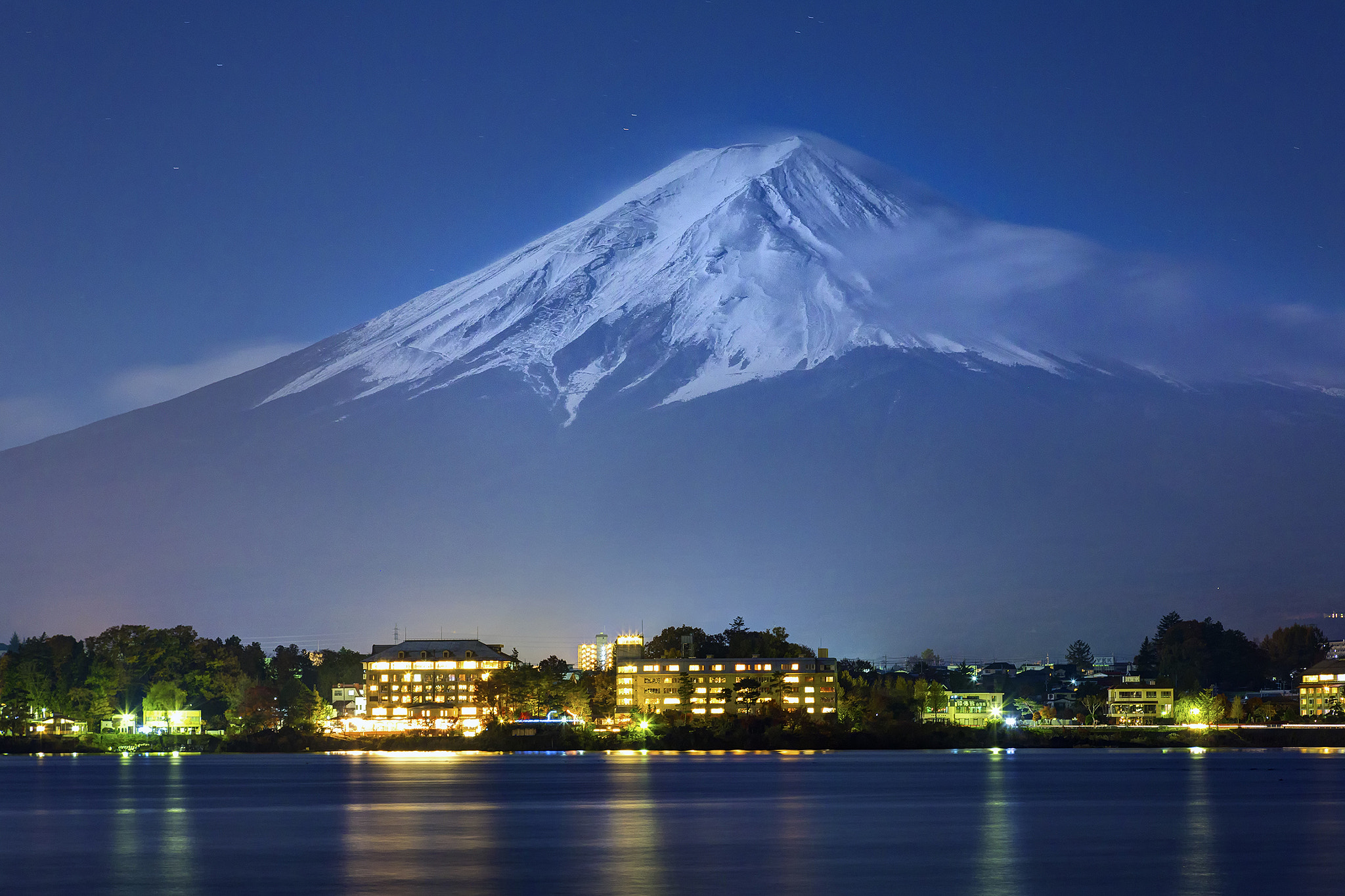 Photograph Moonlit Fujisan by Chaluntorn Preeyasombat on 500px