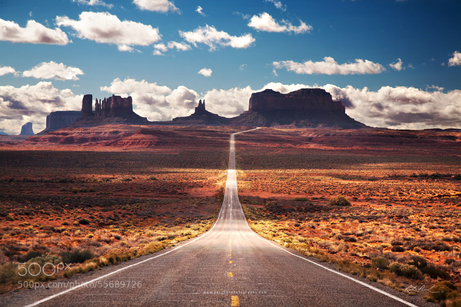Photograph Road into the Desert by Rick Parchen on 500px