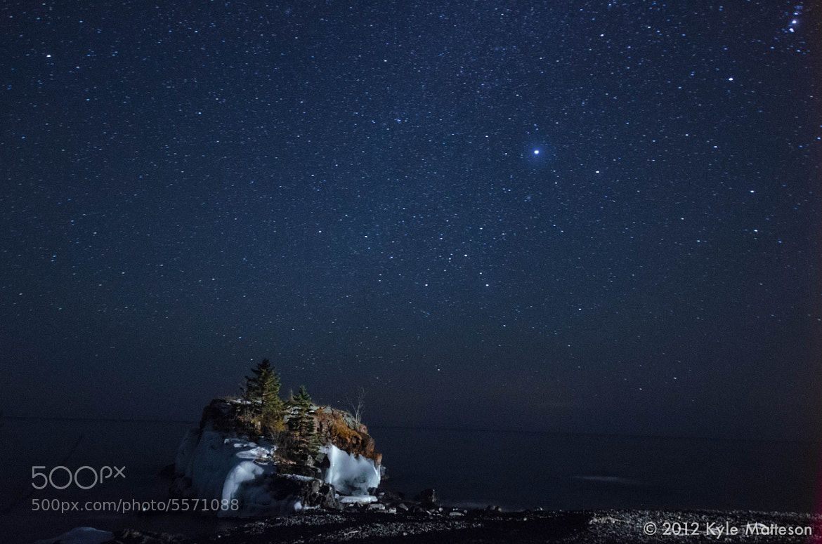 Photograph Hollow Rock At Midnight by Kyle Matteson on 500px