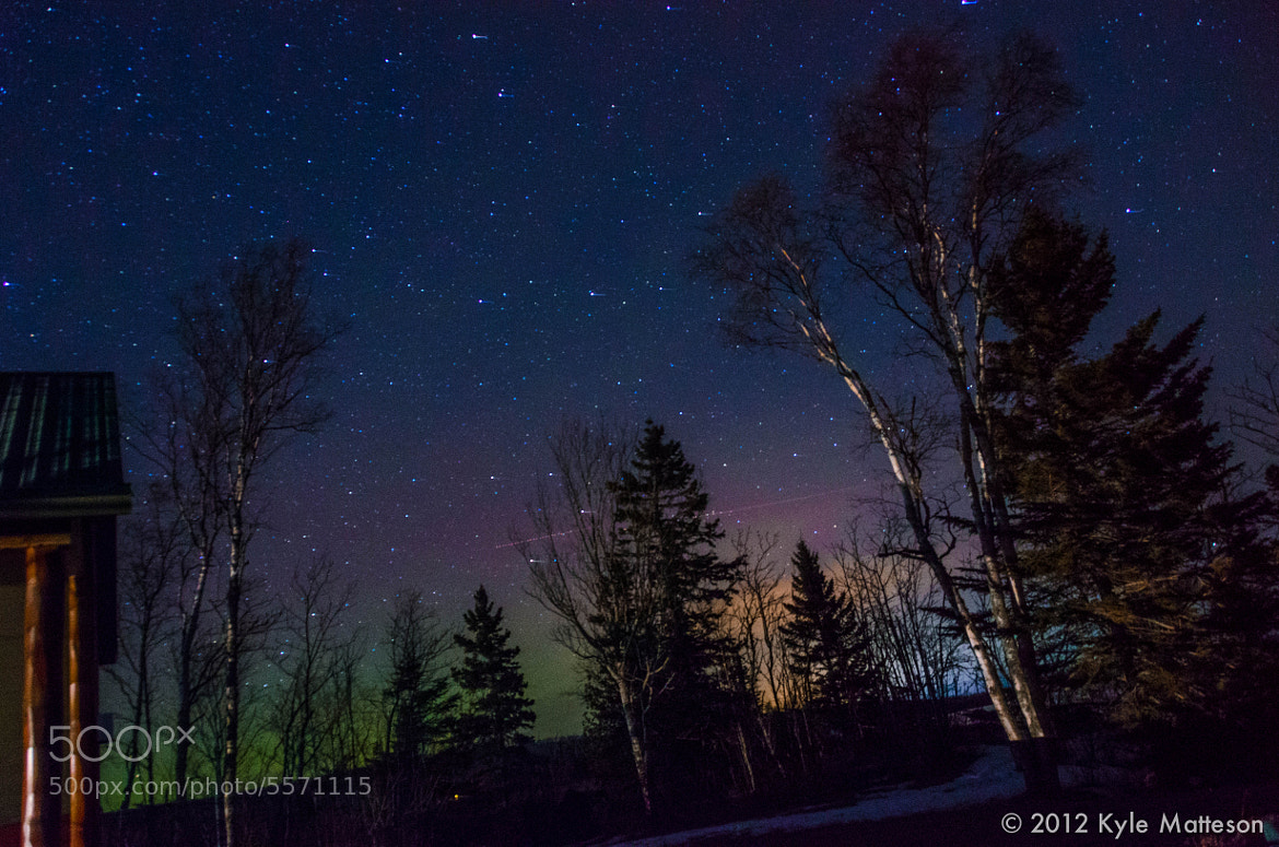 Photograph Northern Lights Shooting Star by Kyle Matteson on 500px