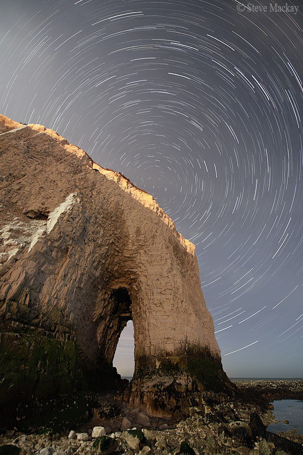 Photograph Joss Bay Star Trails by Steve Mackay on 500px