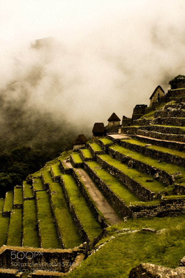 Photograph Machu picchu side terraces by Francisco del Corral on 500px