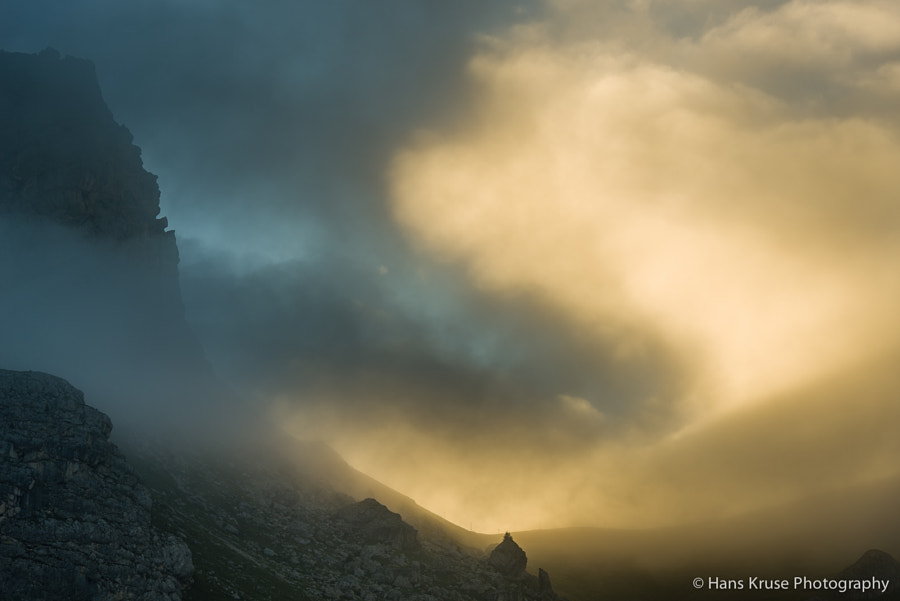 This photo was shot in the Dolomites near Passo Pordoi before the Dolomites East September 2013 photo workshop.