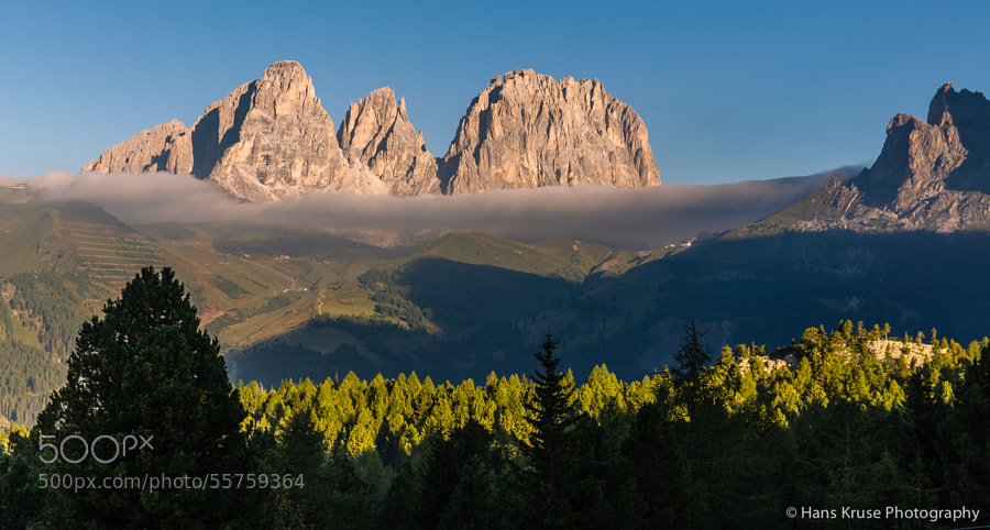 This photo was shot at a viewpoint looking at Passo Sella and Sassolungo. It was shot before the Dolomites East September 2013 photo workshop.
