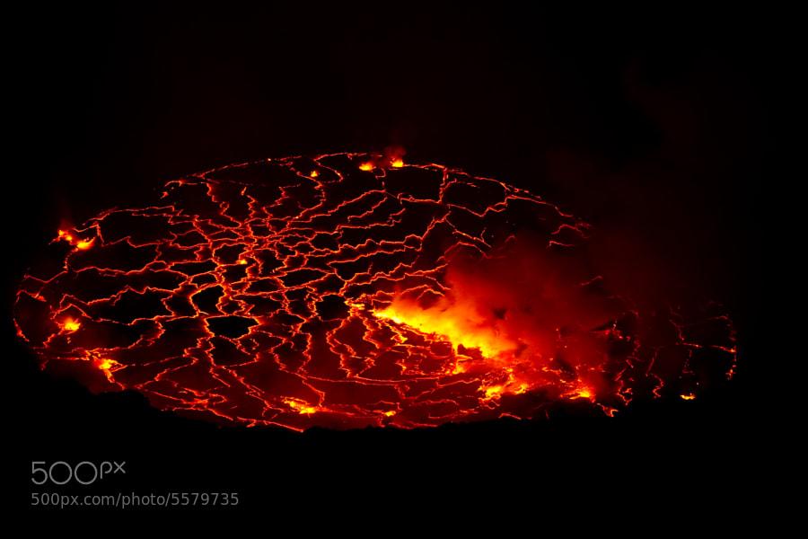 Photograph lava lake by Francesco  Pandolfo on 500px