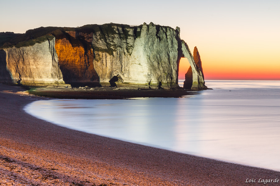 Etretat Cliff by Night
