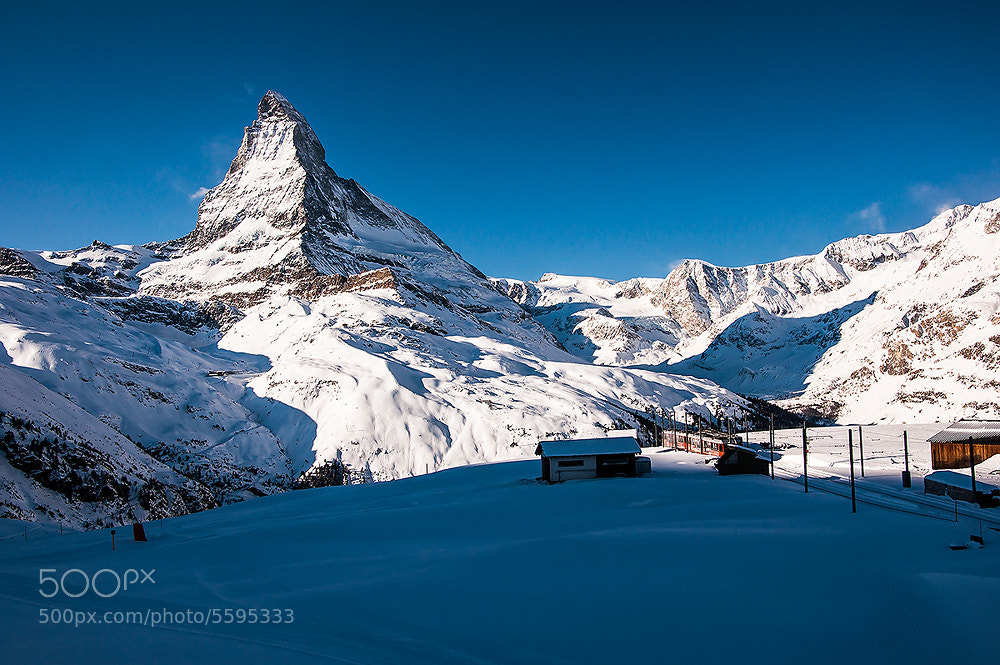 Photograph Matterhorn view from Train by Vorravut Thanareukchai on 500px