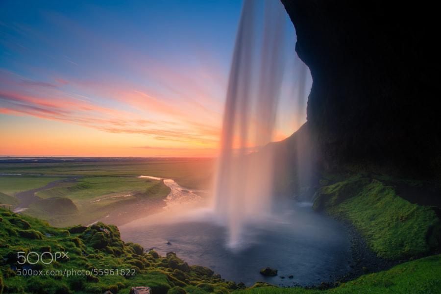 Photograph Seljalandsfoss Sunset by Michael Bonocore on 500px