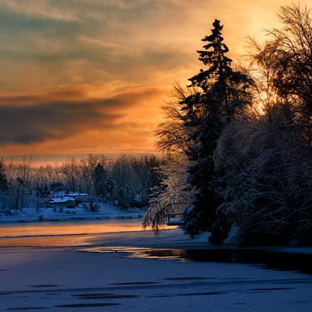 Ice cold sunset ...