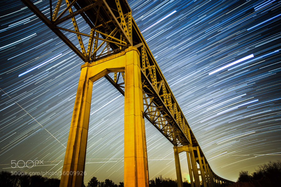 Photograph Reedy Point Star Trails by Wes Bunton on 500px