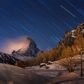 a night with Matterhorn by Coolbiere. A. (Vorrarit)) on 500px.com