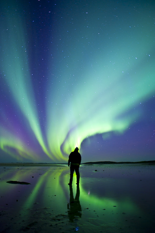 Photograph Aurora and me by Bjørn Anders Nymoen on 500px