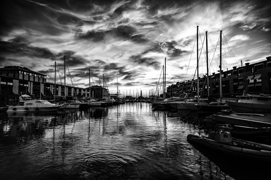 Sunset in Black & white … another view!