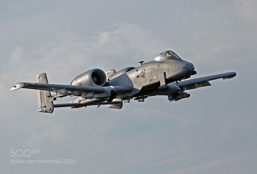 A-10C assigned to the Maryland Air National Guard makes a Tower Pass at the Bomb Range