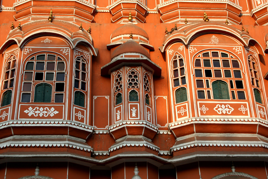 Windows of Hawa Mahal by Kerk Phillips on 500px.com