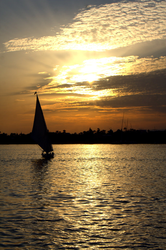 Photograph Sunset over the River Nile by Helen Bailey on 500px