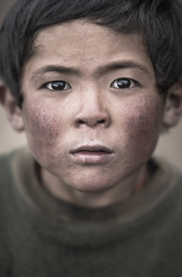 Photograph Portrait of Nepalese boy by Arsenii Gerasymenko on 500px