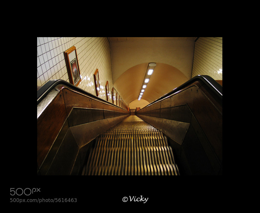 Photograph old escalator, Antwerp by Vicky Dens on 500px