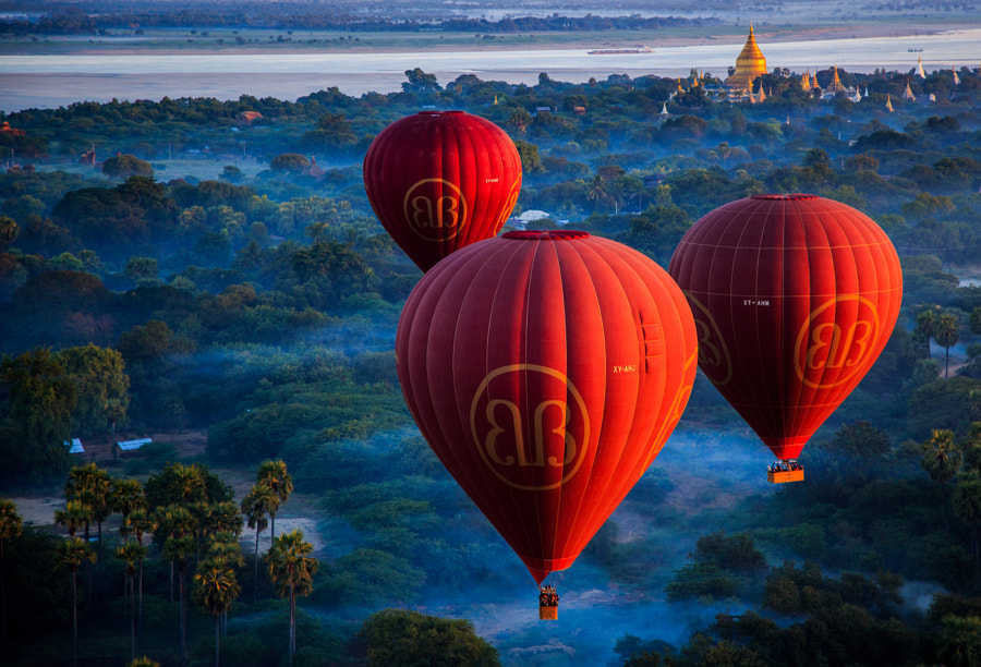 Balloons over Bagan 2 by JP Klovstad on 500px.com