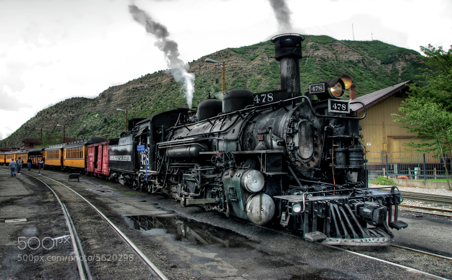 Photograph All Aboard the Durango-Silverton by Len Saltiel on 500px