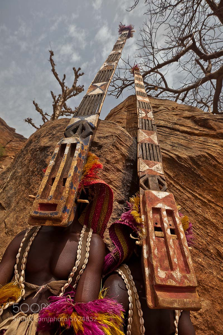 Photograph Dogon mask dance, tireli, pays dogon, mali by Anthony Pappone on 500px