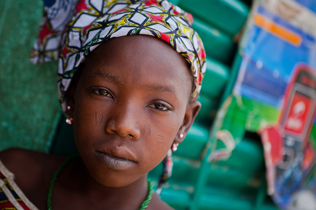Photograph portrait of a girl in dori,region of the Sahel, northern Burkina Faso by Anthony Pappone on 500px