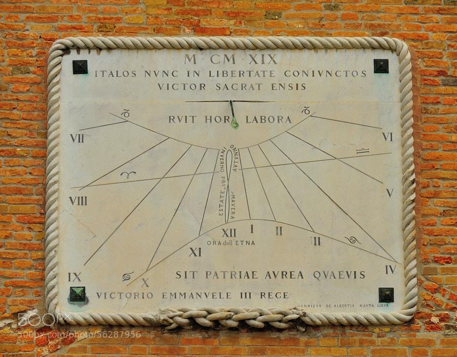 Sundial of the Venetian Arsenal.